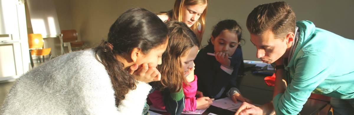 Schattenjacht - lessenreeks Spelend Frans Leren van Taal Plus voor kinderen en jongeren regio Brasschaat en Mortsel